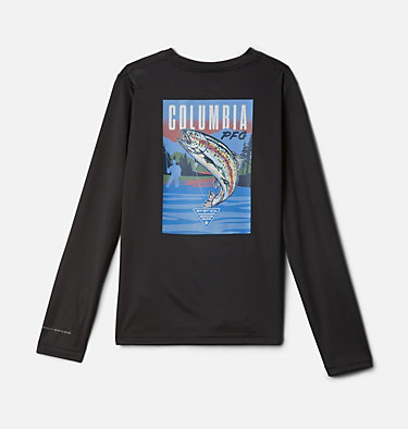 Kids' PFG Terminal Tackle Vintage Poster Long Sleeve Shirt Terminal Tackle PFG™ Vintage Poster LS | 469 | M, Shark, front