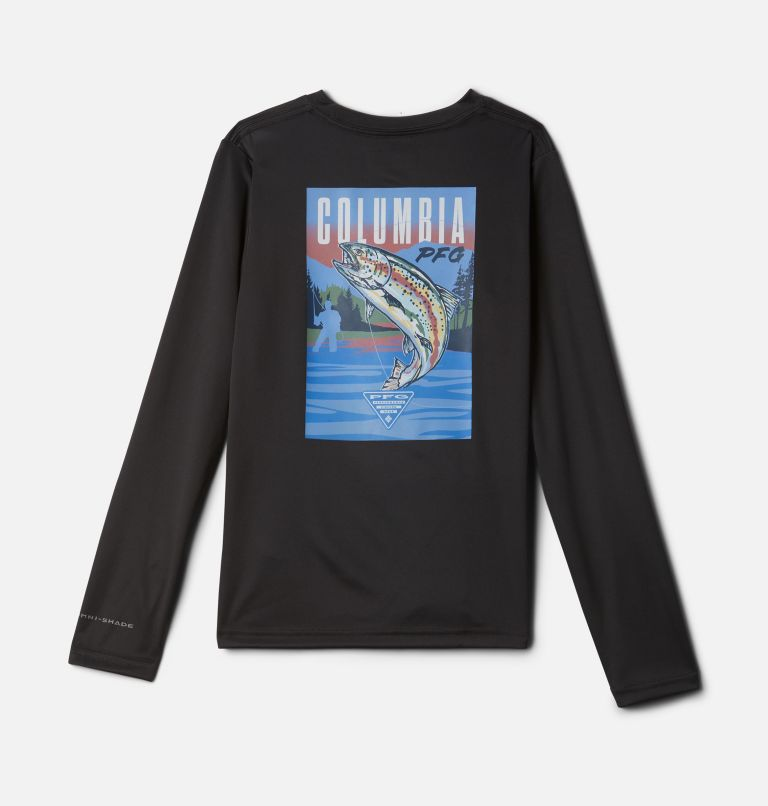 Terminal Tackle PFG™ Vintage Poster LS | 011 | S Kids' PFG Terminal Tackle Vintage Poster Long Sleeve Shirt, Shark, front