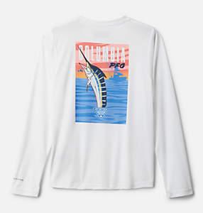 Kids' PFG Terminal Tackle Vintage Poster Long Sleeve Shirt