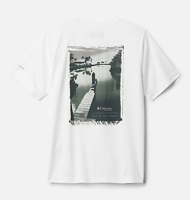 Boys' PFG True Pursuit™ T-shirt True Pursuit™ SS Tee | 010 | M, White, front