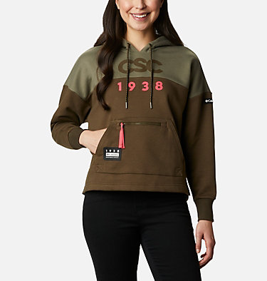 Women's Columbia Lodge™ Heavyweight Hoodie Columbia Lodge™ Heavyweight Hoodie | 039 | L, Stone Green, Olive Green, front