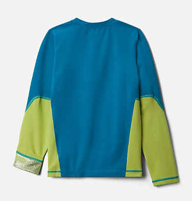 Kids' Omni-Heat™ 3D Knit Crew Baselayer Shirt Omni-Heat 3D™ Knit Crew | 374 | L, Fjord Blue, Voltage, back