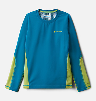 Kids' Omni-Heat™ 3D Knit Crew Baselayer Shirt Omni-Heat 3D™ Knit Crew | 374 | L, Fjord Blue, Voltage, front