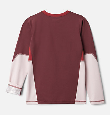 Kids' Omni-Heat™ 3D Knit Crew Baselayer Shirt Omni-Heat 3D™ Knit Crew | 374 | L, Malbec, Mineral Pink, Marsala Red, back