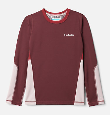 Kids' Omni-Heat™ 3D Knit Crew Baselayer Shirt Omni-Heat 3D™ Knit Crew | 374 | L, Malbec, Mineral Pink, Marsala Red, front