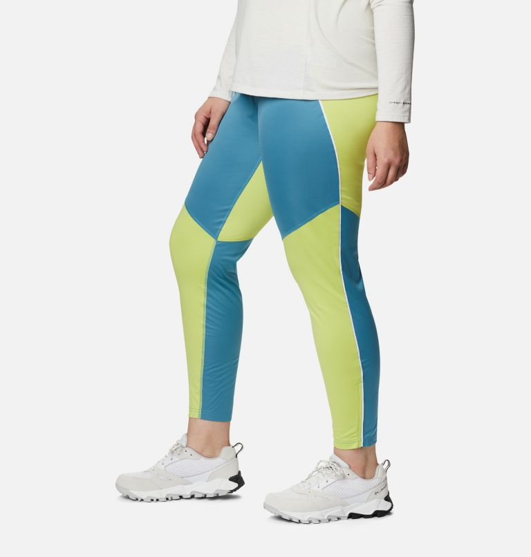 Roffe Ridge™ Windblock Legging | 430 | 3X Women's Roffe Ridge™ Windblock Leggings - Plus Size, Canyon Blue, Voltage, a1