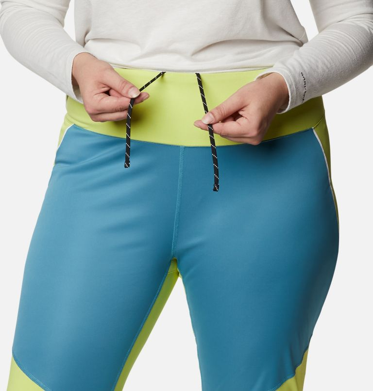 Roffe Ridge™ Windblock Legging | 430 | 3X Women's Roffe Ridge™ Windblock Leggings - Plus Size, Canyon Blue, Voltage, a2