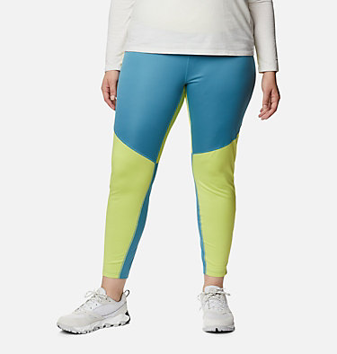 Women's Roffe Ridge™ Windblock Leggings - Plus Size Roffe Ridge™ Windblock Legging | 010 | 1X, Canyon Blue, Voltage, front