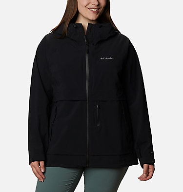 Women's Beacon Trail™ Shell Jacket - Plus Size W Beacon Trail™ Shell | 619 | 1X, Black, front