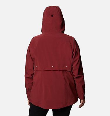 Women's Beacon Trail™ Shell Jacket - Plus Size W Beacon Trail™ Shell | 619 | 1X, Marsala Red, back