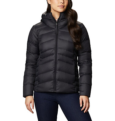 Women's Autumn Park™ Down Hooded Jacket Autumn Park™ Down Hooded Jacket | 010 | M, Black, front