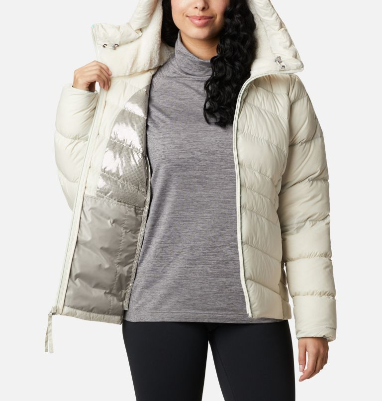 Autumn Park™ Down Hooded Jacket | 191 | L Manteau à capuchon en duvet Autumn Park™ pour femme, Chalk, a3