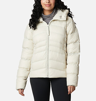 Women's Autumn Park™ Down Hooded Jacket Autumn Park™ Down Hooded Jacket | 010 | M, Chalk, front