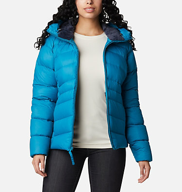 Manteau à capuchon en duvet Autumn Park™ pour femme Autumn Park™ Down Hooded Jacket | 010 | M, Fjord Blue, front