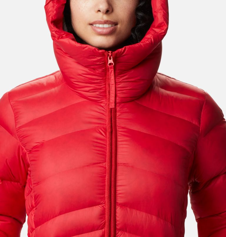 Autumn Park™ Down Hooded Jacket | 658 | S Manteau à capuchon en duvet Autumn Park™ pour femme, Red Lily, a2