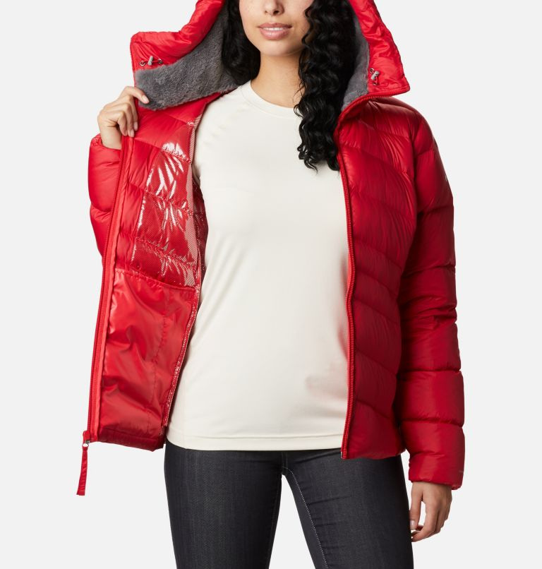 Autumn Park™ Down Hooded Jacket | 658 | M Manteau à capuchon en duvet Autumn Park™ pour femme, Red Lily, a3