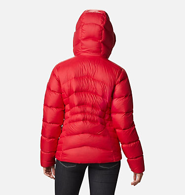 Women's Autumn Park™ Down Hooded Jacket Autumn Park™ Down Hooded Jacket | 010 | M, Red Lily, back