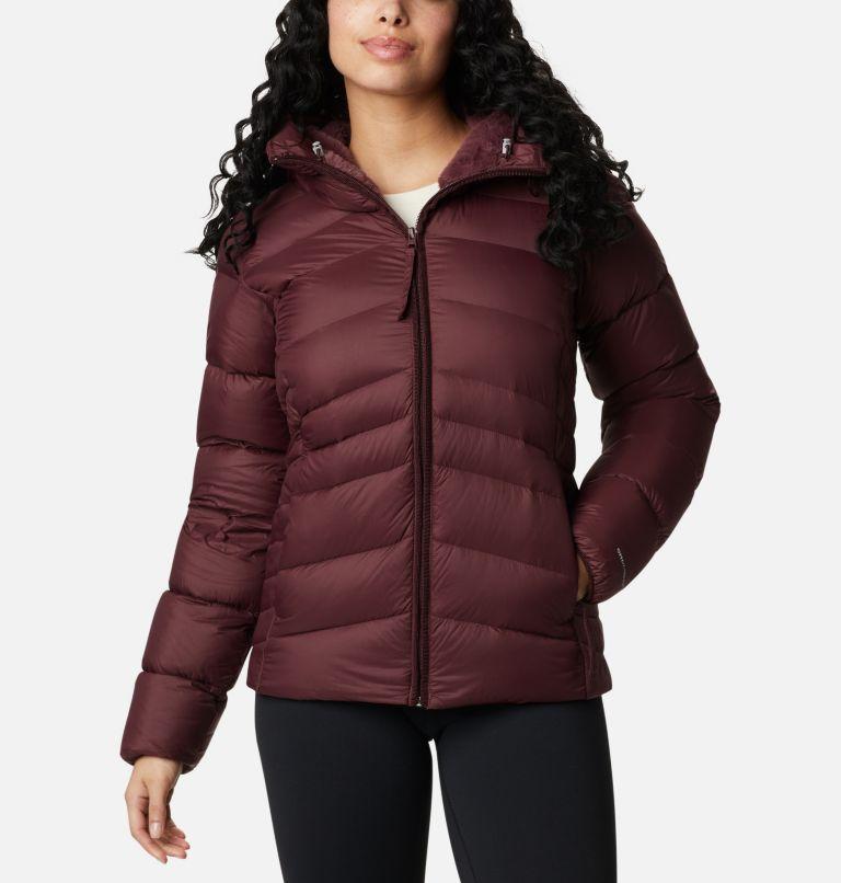 Autumn Park™ Down Hooded Jacket | 671 | M Manteau à capuchon en duvet Autumn Park™ pour femme, Malbec, front