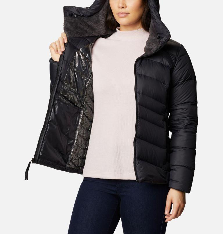Autumn Park™ Down Hooded Jacket | 010 | L Women's Autumn Park™ Down Hooded Jacket, Black, a3