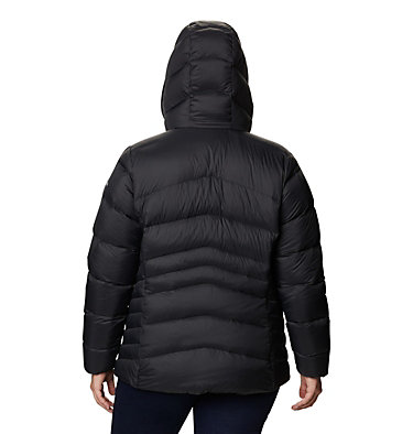Manteau à capuchon en duvet Autumn Park™ pour femme - Grandes tailles Autumn Park™ Down Hooded Jacket | 010 | 3X, Black, back