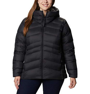 Women's Autumn Park™ Down Hooded Jacket - Plus Size Autumn Park™ Down Hooded Jacket | 010 | 3X, Black, front