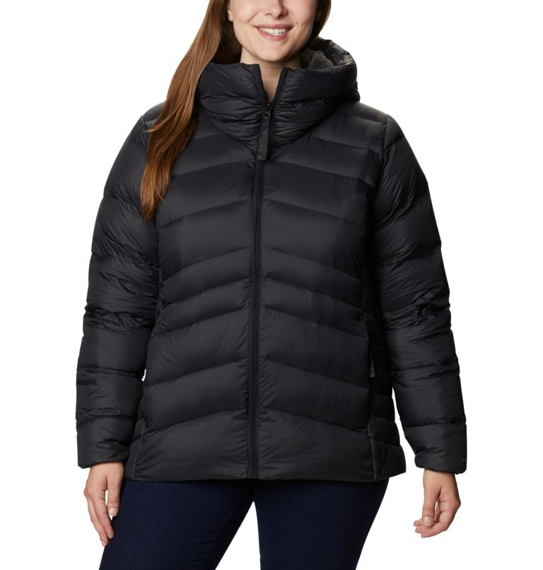 Women's Autumn Park™ Down Hooded Jacket - Plus Size Women's Autumn Park™ Down Hooded Jacket - Plus Size, front