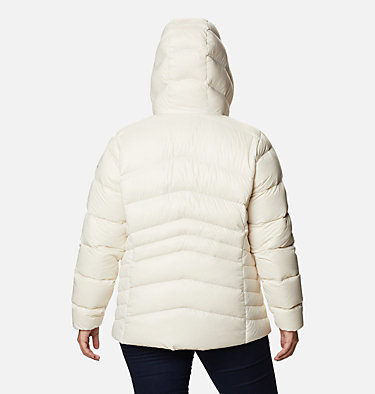 Women's Autumn Park™ Down Hooded Jacket - Plus Size Autumn Park™ Down Hooded Jacket | 010 | 3X, Chalk, back
