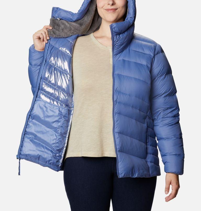 Autumn Park™ Down Hooded Jacket | 458 | 3X Women's Autumn Park™ Down Hooded Jacket - Plus Size, Velvet Cove, a3
