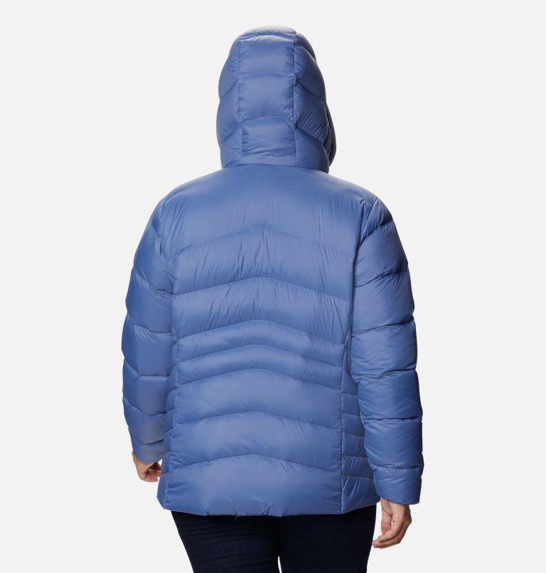 Autumn Park™ Down Hooded Jacket | 458 | 3X Women's Autumn Park™ Down Hooded Jacket - Plus Size, Velvet Cove, back