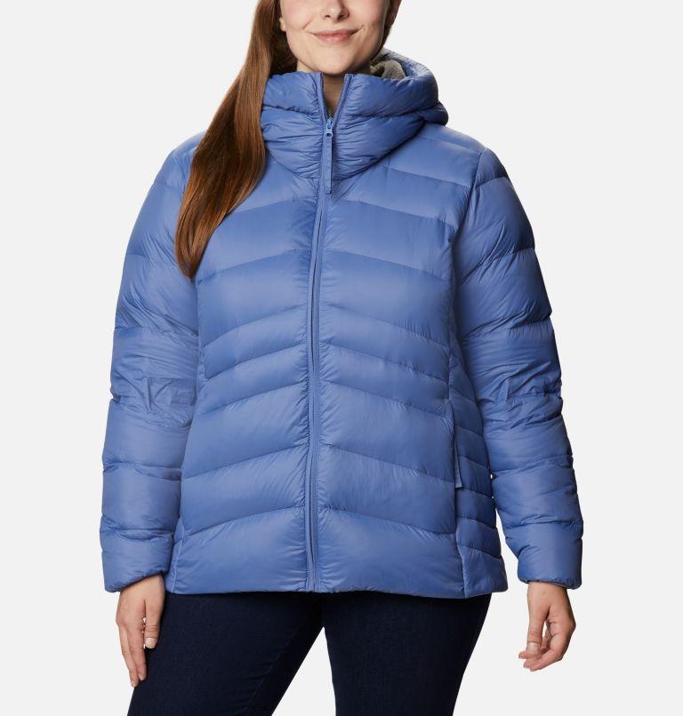 Autumn Park™ Down Hooded Jacket | 458 | 3X Women's Autumn Park™ Down Hooded Jacket - Plus Size, Velvet Cove, front