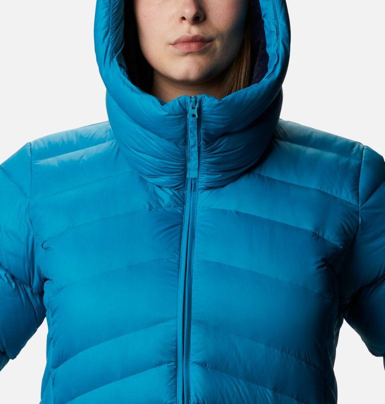 Autumn Park™ Down Hooded Jacket | 462 | 1X Women's Autumn Park™ Down Hooded Jacket - Plus Size, Fjord Blue, a2