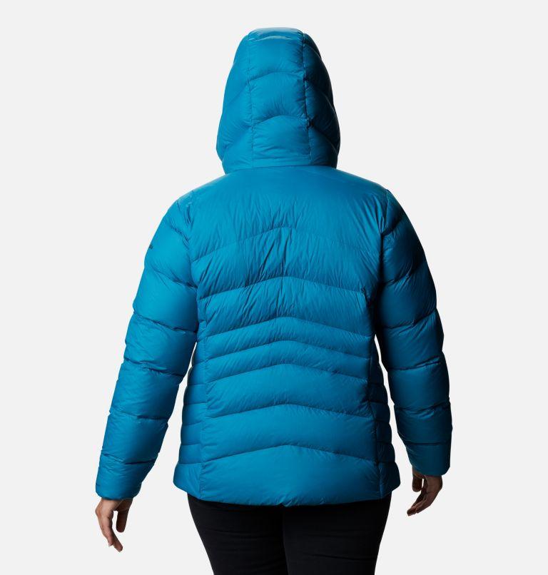 Autumn Park™ Down Hooded Jacket | 462 | 1X Women's Autumn Park™ Down Hooded Jacket - Plus Size, Fjord Blue, back