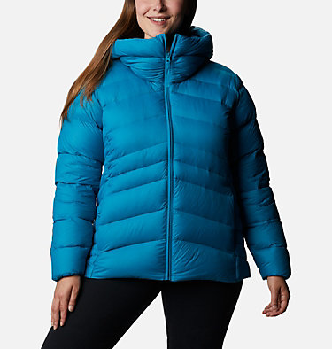Women's Autumn Park™ Down Hooded Jacket - Plus Size Autumn Park™ Down Hooded Jacket | 010 | 3X, Fjord Blue, front