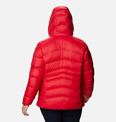 Manteau à capuchon en duvet Autumn Park™ pour femme - Grandes tailles Autumn Park™ Down Hooded Jacket | 010 | 3X, Red Lily, back