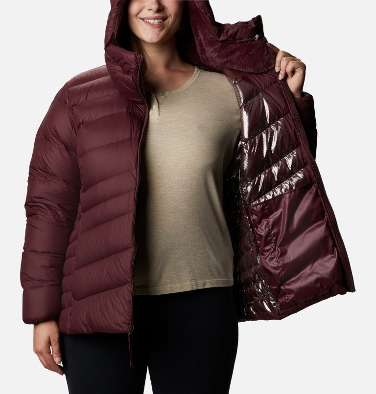 Women's Autumn Park™ Down Hooded Jacket - Plus Size Women's Autumn Park™ Down Hooded Jacket - Plus Size, a3