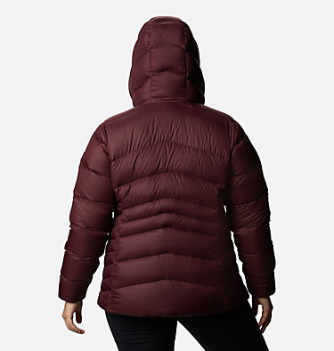Women's Autumn Park™ Down Hooded Jacket - Plus Size Autumn Park™ Down Hooded Jacket | 010 | 3X, Malbec, back