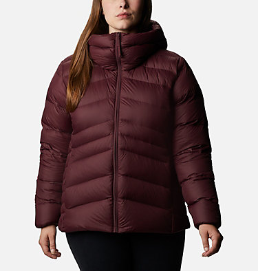 Women's Autumn Park™ Down Hooded Jacket - Plus Size Autumn Park™ Down Hooded Jacket | 010 | 3X, Malbec, front