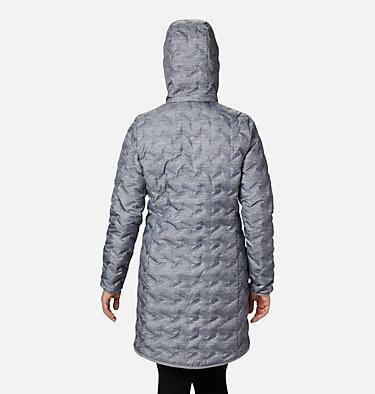 Women's Delta Ridge™ Long Down Jacket Delta Ridge™ Long Down Jacket | 671 | L, Tradewinds Grey Heather Print, back