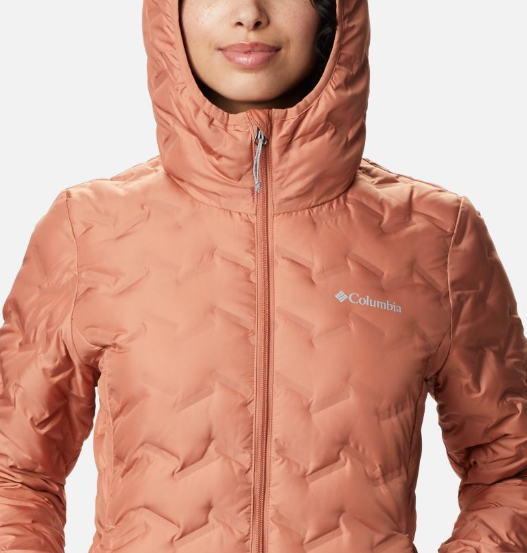 Delta Ridge™ Long Down Jacket | 604 | XS Women's Delta Ridge™ Long Down Jacket, Nova Pink, a2