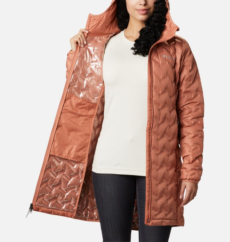 Delta Ridge™ Long Down Jacket | 604 | XS Women's Delta Ridge™ Long Down Jacket, Nova Pink, a3