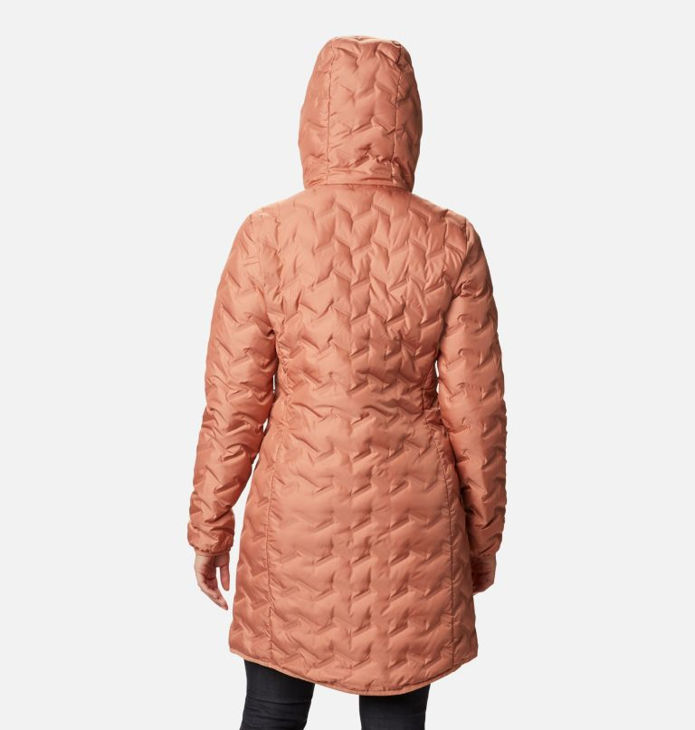 Delta Ridge™ Long Down Jacket | 604 | XS Women's Delta Ridge™ Long Down Jacket, Nova Pink, back