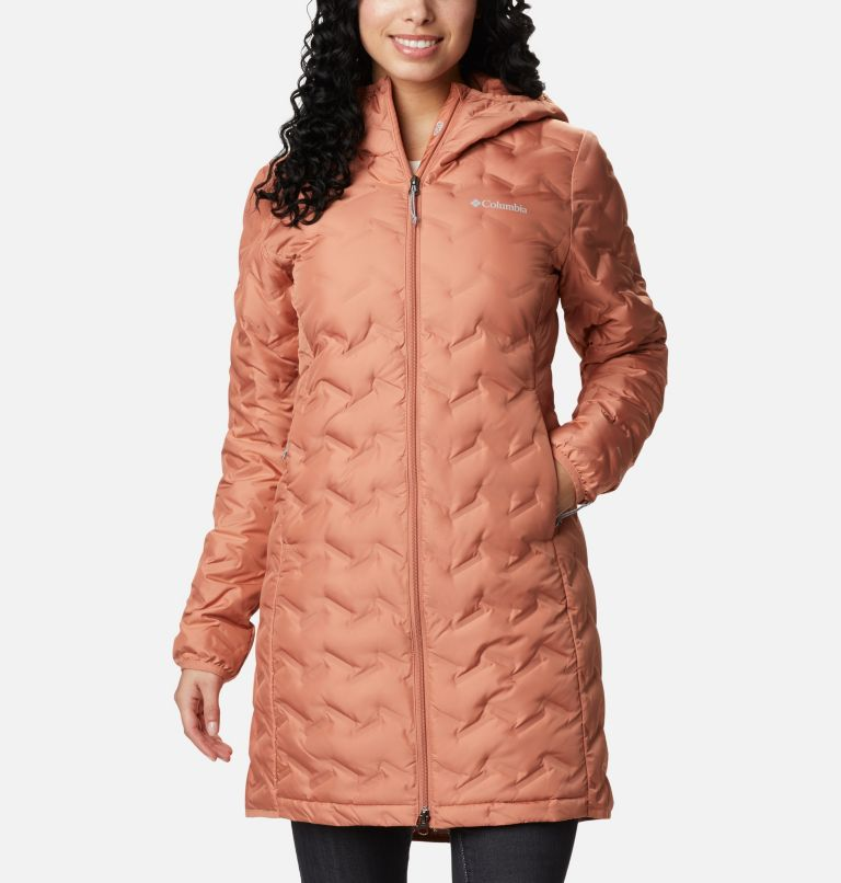 Delta Ridge™ Long Down Jacket | 604 | XS Women's Delta Ridge™ Long Down Jacket, Nova Pink, front