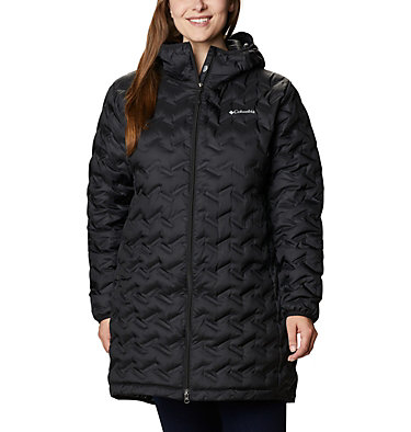 Women's Delta Ridge™ Long Down Jacket - Plus Size Delta Ridge™ Long Down Jacket | 010 | 2X, Black, front