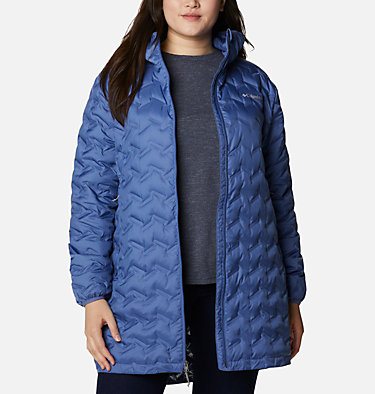 Women's Delta Ridge™ Long Down Jacket - Plus Size Delta Ridge™ Long Down Jacket | 458 | 2X, Velvet Cove, front