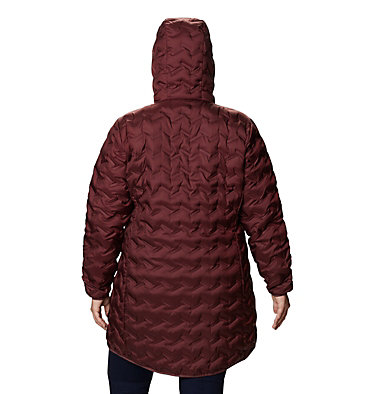 Women's Delta Ridge™ Long Down Jacket - Plus Size Delta Ridge™ Long Down Jacket | 010 | 2X, Malbec, back