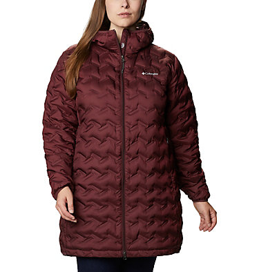 Women's Delta Ridge™ Long Down Jacket - Plus Size Delta Ridge™ Long Down Jacket | 010 | 2X, Malbec, front