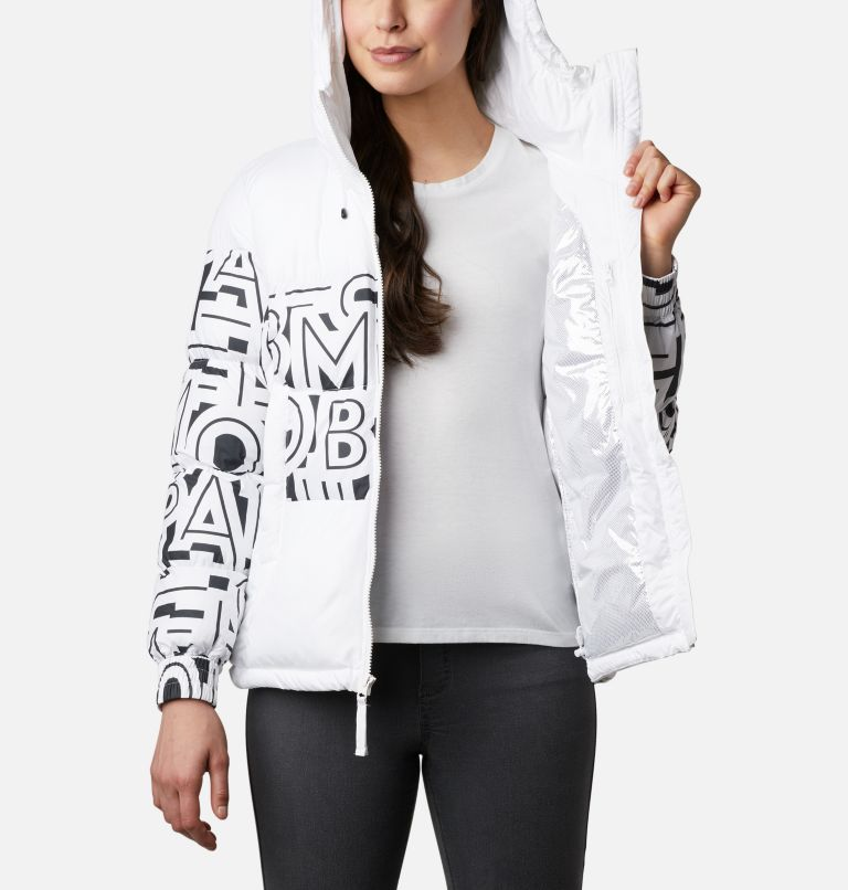Pike Lake™ II Insulated Jacket | 100 | XL Women's Pike Lake™ II Insulated Jacket, White, White Typo Print, a3