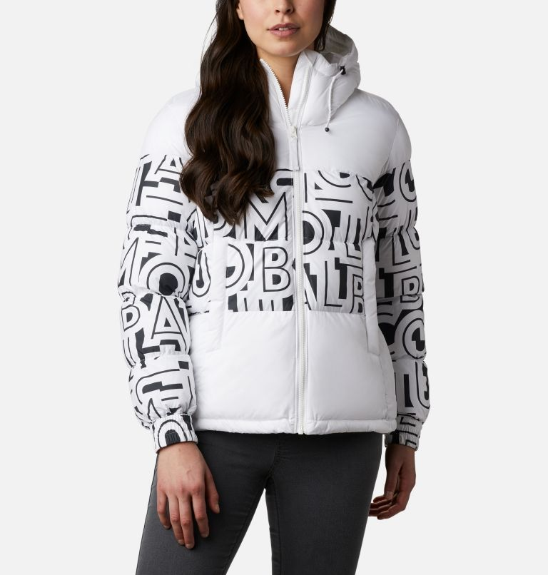 Pike Lake™ II Insulated Jacket | 100 | XL Women's Pike Lake™ II Insulated Jacket, White, White Typo Print, front
