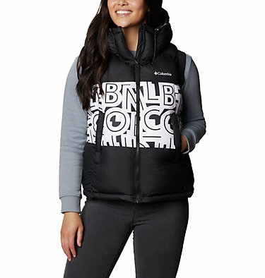 Veste Sans Manches Isolée Pike Lake™ II Femme Pike Lake™ II Insulated Vest | 011 | L, Black, White Typo Print, front