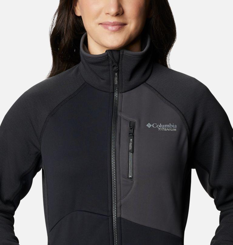 W Powder Chute™ Fleece Jacket | 010 | XS Women's Powder Chute Fleece Jacket, Black, Shark, a2